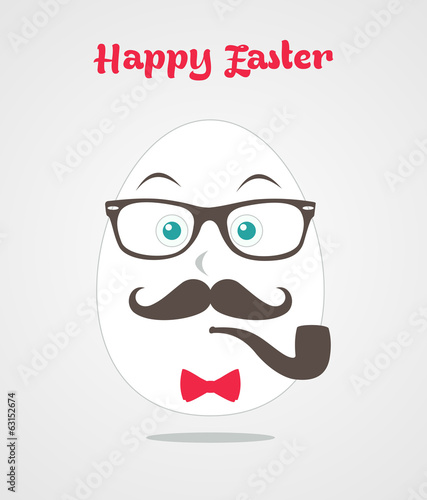 Happy hipster Mr egg