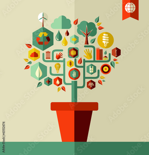 Green Environment tree concept