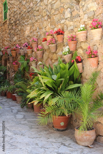 Mediterranean village of Valldemossa. Mallorca island, Spain