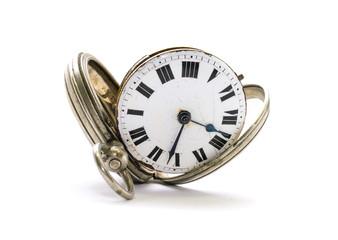 alte antike Taschenuhr, Uhrwerk