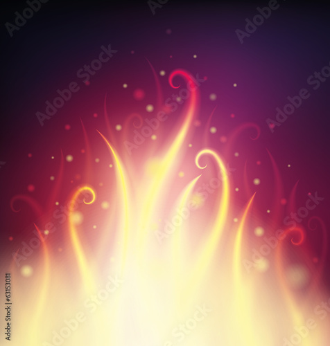 Background with fire and sparks