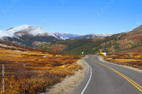 Scenic route 150 of Colorado