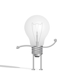 Lightbulb Character, Illustration