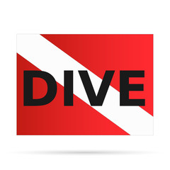 Scuba Dive Flag, Illustration