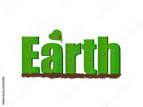 Earth Text, Illustration