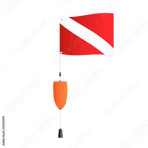 Scuba Flag, Illustration