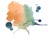 Fototapety colorful retro vintage abstract watercolour / aquarelle art hand