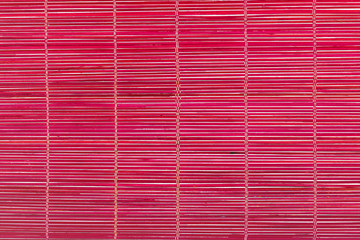 Red bamboo mat, background