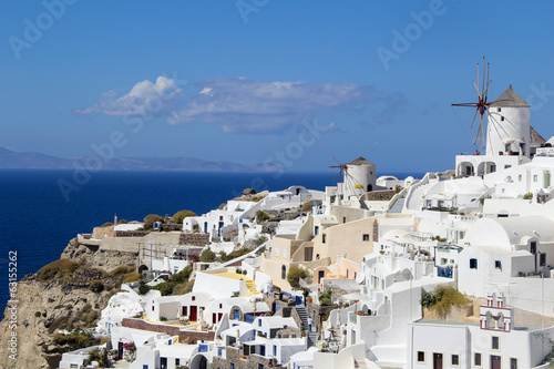 Romantic Oia Village in Santorini Island