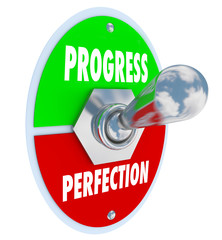 Progress or Perfection Toggle Switch Choose Moving Forward