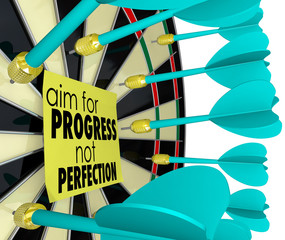 Aim for Progress Not Perfection Dart Board Improvement