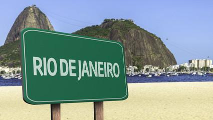 Rio de Janeiro road sign, Brazil