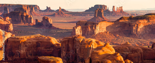 Tuinposter Canyon American West Panorama, Monument Valley
