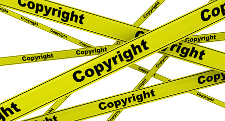 Copyright. Авторское право. Желтая оградительная лента