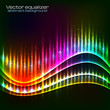 Neon vector equalizer wave