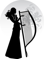 Donna con arpa