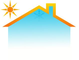 concept climatisation réversible maison