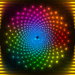 Abstract rainbow neon vector circle