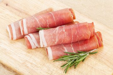 Prosciutto with herbs