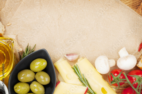 canvas print picture Cooking paper for copy space and food