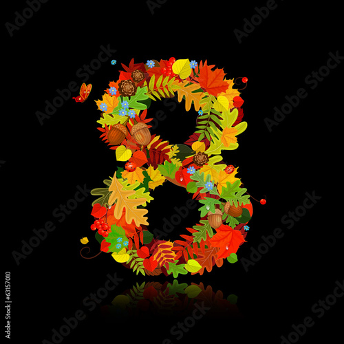 Beautiful autumn leaves. number 8