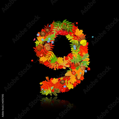 Beautiful autumn leaves. number 9