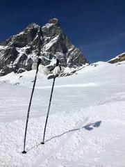 Skiing under Matterhorn