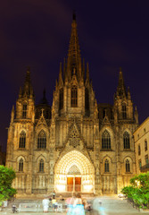 The Cathedral of the Holy Cross and Saint Eulalia in  Barcelona