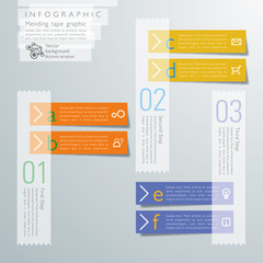 Infographics  Mending Tape Graphic