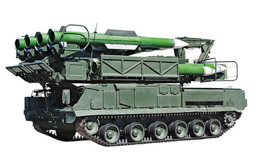 "pre-loading installing anti-aircraft missile system ""Buk-M2"""