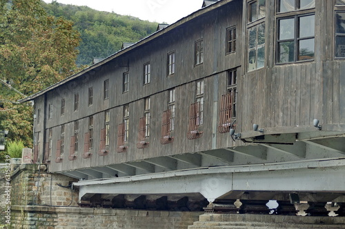 Restored antique covered bridge only of the Balkan peninsula