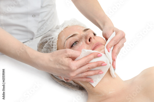 beauty salon, facial mask wipe