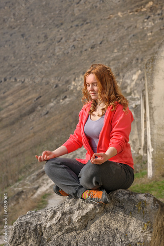 meditation in mountains