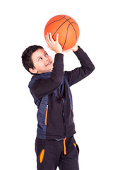 Young basketball player