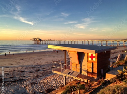 Lifeguard Station at Scripps Pier, La Jolla, San Diego, CA