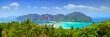 Leinwanddruck Bild - Panorama of Phi phi island, Krabi, Southern of Thailand.