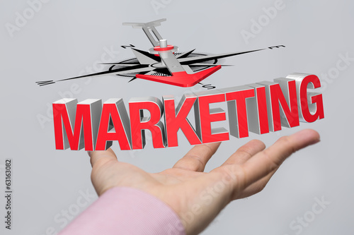 marketing word hand