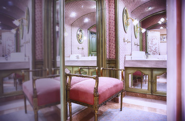 luxury toilette room