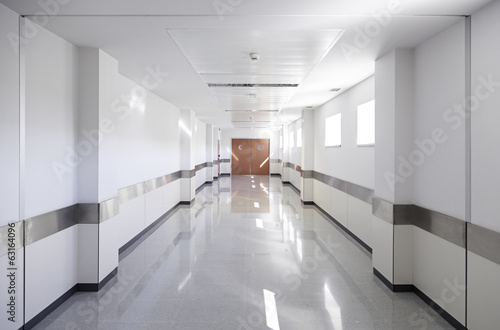 Hall of deep hospital - 63164096