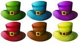 Fototapety Six colourful hats