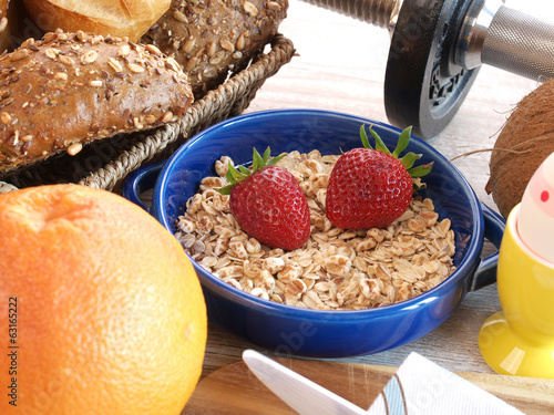 canvas print picture Fitness breakfast