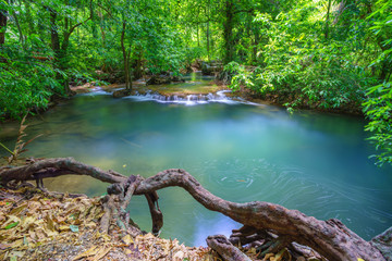 Deep forest Waterfall in Krabi, Southern of Thailand