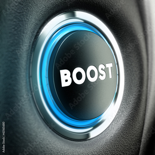 Motivation Concept - Boost Button