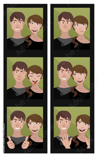 funny photo booth series