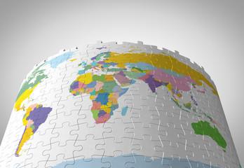 パズルの世界地図