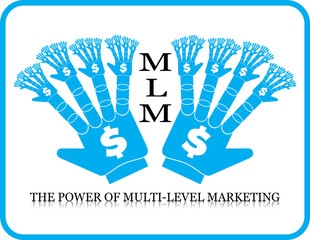business concept icon Power  of  MLM multi-level marketing
