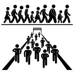 Community Walk and Run Marching Marathon Rally