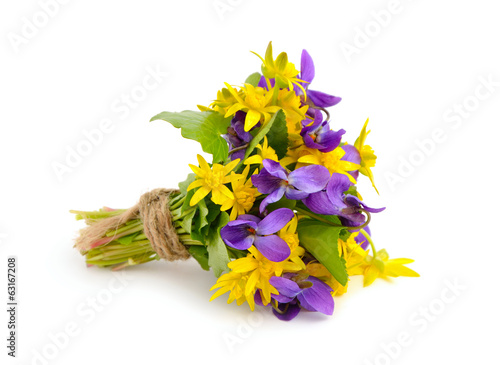 Small bouquet with meadow flowers.