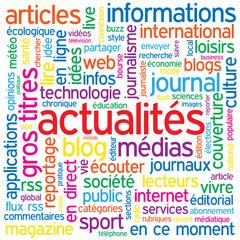 """Nuage de Tags """"ACTUALITES"""" (informations bouton médias news)"""