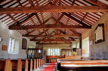 Interior of St Anthonys Church, Cartmel Fell